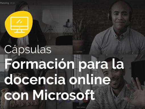 Implantación y formación para la docencia online con Microsoft Teams