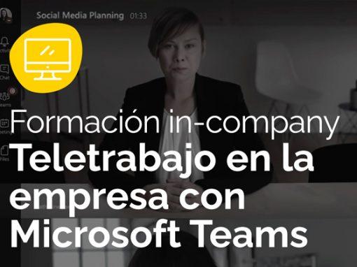 Implantación y formación para el teletrabajo con Microsoft Teams