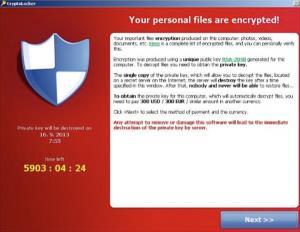mensaje ransomware