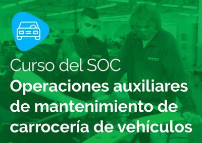 SOC Operaciones auxiliares de mantenimiento de carrocería de vehículos
