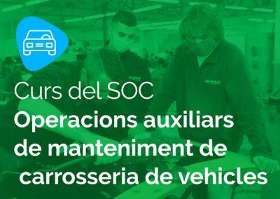 SOC Operacions auxiliars de manteniment de carrosseria de vehicles