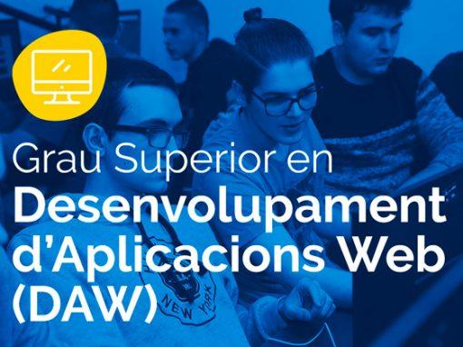 Cicle Formatiu de Grau Superior en Desenvolupament d'Aplicacions Web – DAW