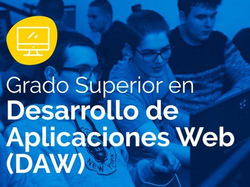 Ciclo Formativo de Grado Superior en Desarrollo de Aplicaciones Web – DAW