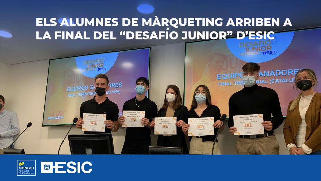 """Els alumnes de Màrqueting arriben a la final del """"Desafío Junior"""" d'ESIC"""