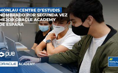 Monlau nomenat per segona vegada, millor Oracle Academy d'Espanya
